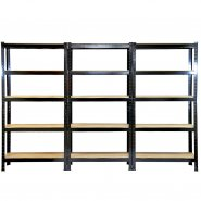 75cm black rack 3 pack
