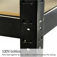 75cm black rack boltless