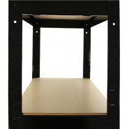 75cm black rack side shelf