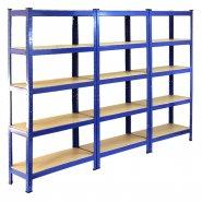 75cm blue rack 3 pack side