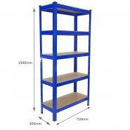 75cm blue rack measurements