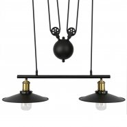 Pendant Pulley Light Double Bulb