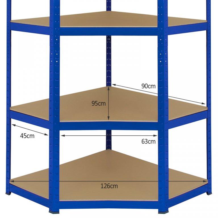20006 Z Rax Corner Bundle Garage Shelving Dimensions