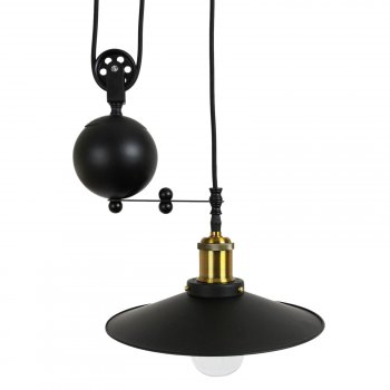 Pendant Pulley Light Single Bulb