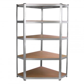 Galwix 90cm Racking Bundle: Corner Shelving and 2 Garage Racking Bays