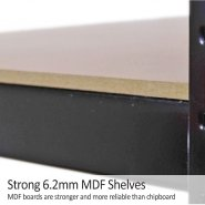 75cm black rack mdf shelves