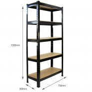 75cm black rack side measurements