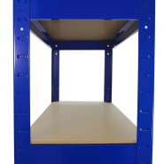 75cm blue rack side shelf