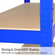 75cm blue rack mdf shelves