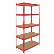 Z-Rax Red 90cm Heavy Duty Shelving Unit
