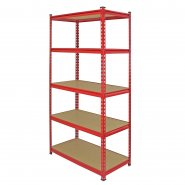 Z-Rax Red 90cm Heavy Duty Shelving Unit Right Corner