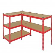 Z-Rax Red 90cm Heavy Duty Shelving Unit Workbench