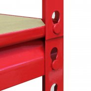 Z-Rax Red 90cm Heavy Duty Shelving Unit MDF & Joint