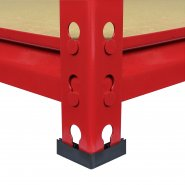 Z-Rax Red 90cm Heavy Duty Shelving Unit Rubber Feet