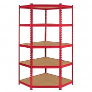 Z-Rax Red 90cm Corner Shelving Unit