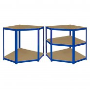 T-Rax Blue Corner Racking Bay - 90cm Wide: Workbenches