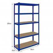 7008 T-Rax 90cm Garage Shelving Dimensions