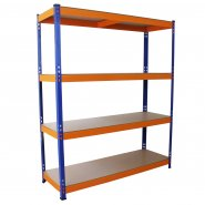 S-Rax Blue & Orange Storage Shelving - 150cm Wide