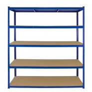 T-Rax Extra Wide & Deep Blue Storage Bay - 160cm Wide Front View