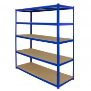 T-Rax Extra Wide & Deep Blue Storage Bay - 160cm Wide Right Corner