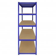 T-Rax Extra Wide & Deep Blue Storage Bay - 160cm Wide Side View