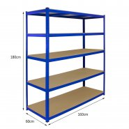 T-Rax Extra Wide & Deep Blue Storage Bay - 160cm Wide Measurements