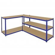 T-Rax Extra Wide & Deep Blue Storage Bay - 160cm Wide Workbench