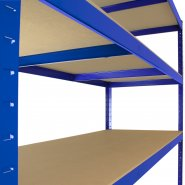 T-Rax Extra Wide & Deep Blue Storage Bay - 160cm Wide Shelf Supports