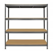 Q-Rax Grey Racking Storage Bay 160cm Wide - Front View