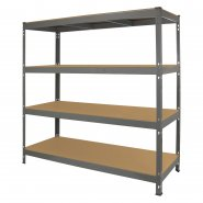 Q-Rax Grey Racking Storage Bay 160cm Wide - Right Corner
