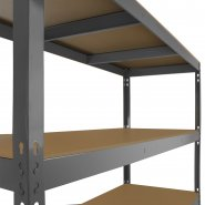 Q-Rax Grey Racking Storage Bay 160cm Wide - Under Shelf Supports