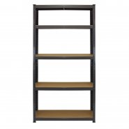 2 x T-Rax Grey Shelving Storage Bay - 90cm Wide - Front