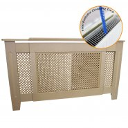 Adjustable Radiator Cover MDF Unfinished 1400mm - 1920mm