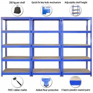 7001 set of 3 blue racks with product features highlighted