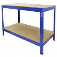 Q-Rax 120cm Workbench in Black, Blue and Red