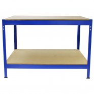 7003 Blue Monster Racking Garage Workbench Front Empty