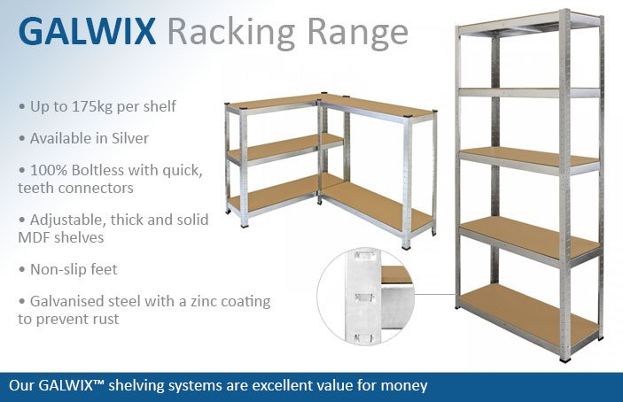 GALWIX Garage Racking Shelving