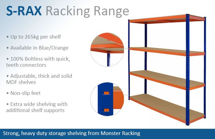 S-Rax Garage Racking Shelving