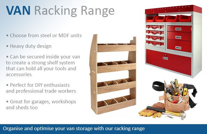 Steel and MDF Van Racking Storage Shelving